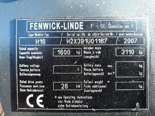 Chariot frontal diesel FENWICK H16 326
