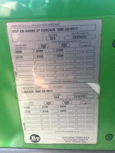 Chariot frontal gaz BT D'occasion 0733