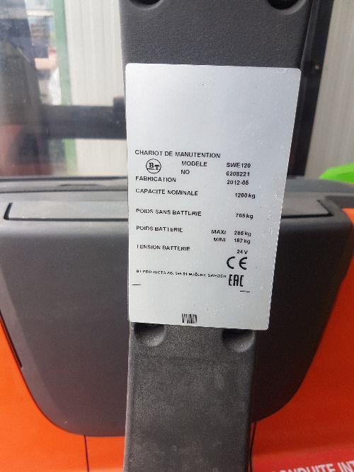 Gerbeur électrique accompagnant BT SWE120- 3357
