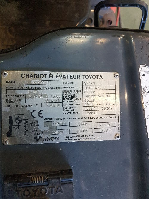 Chariot frontal Electrique TOYOTA 8FBET15 - 003575