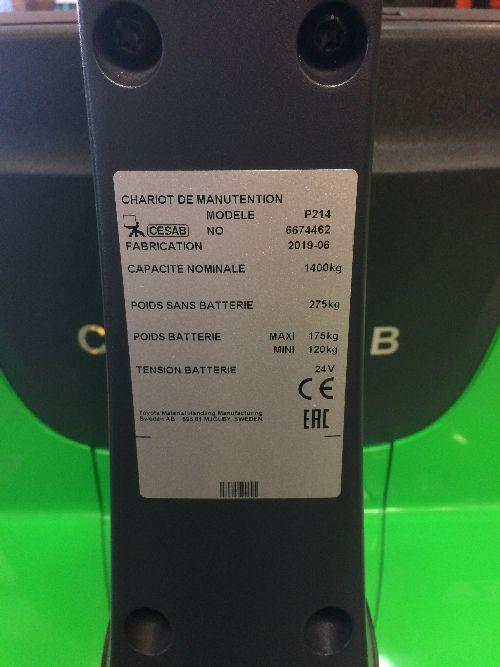transpalette Electrique CESAB P214- 002975