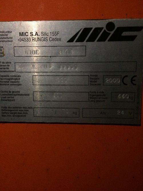 GERBEUR ELECTRIQUE MIC G10E 240T - 002679
