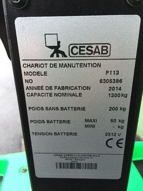 Transpalette électrique CESAB P113 - 001688